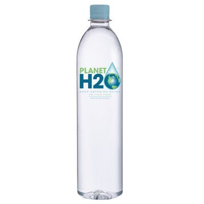 1 Liter Bottle of Planet H2O, premium natural artesian water