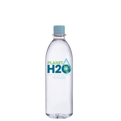 500 ML bottle of Planet H2O, naturally fresh, delicious tasting water