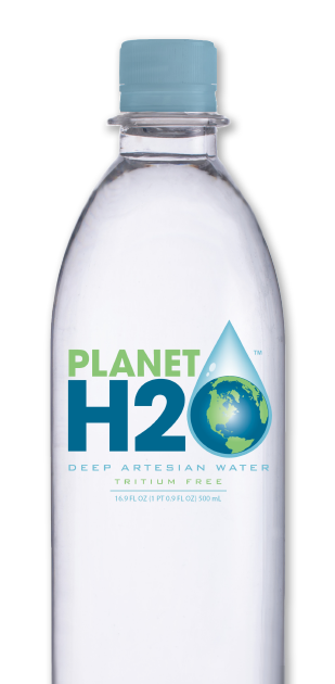 Planet H2O is premium bottled water sourced from one of the deepest freshwater aquifers on the planet